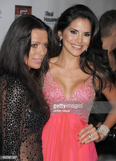 Personalities Carlton Gebbia and Joyce Giraud de Ohoven arrive at 'The Real Housewives Of Beverly Hills' And 'Vanderpump Rules' premiere party at...