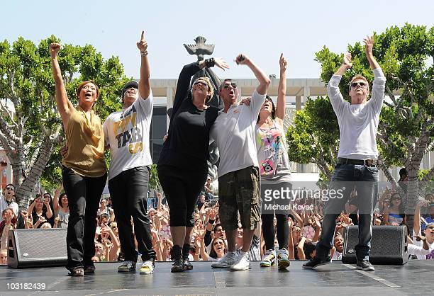 TV personalities Carrie Ann Inaba Napoleon Dumo Mia Michaels Adam Shankman Tabitha Dumo and Derek Hough participate in the National Dance Day...