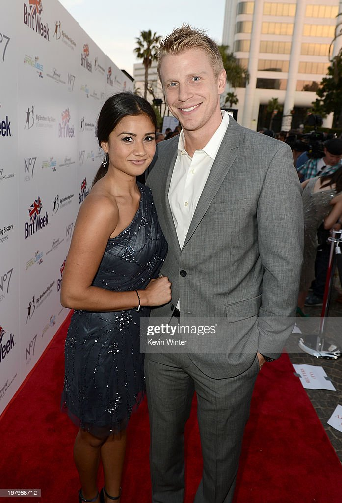 TV personalities Catherine Giudic and Sean Lowe attend BritWeek Celebrates Downton Abbey at The Fairmont Miramar Hotel on May 3, 2013 in Santa Monica, California.