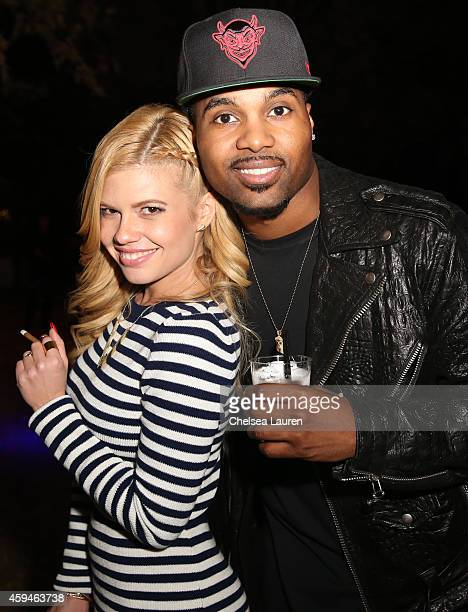 TV personalities Chanel West Coast and Steelo Brim attend Trey Songz' 30th birthday carnival extravaganza on November 22 2014 in Agoura Hills...