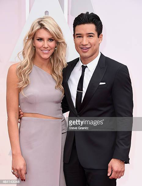 TV personalities Charissa Thompson and Mario Lopez attend the 87th Annual Academy Awards at Hollywood Highland Center on February 22 2015 in...