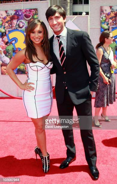 """Personalities Cheryl Burke and Evan Lysacek attend the Los Angeles premiere of """"Toy Story 3"""" at the El Capitan Theatre on June 13, 2010 in Hollywood,..."""