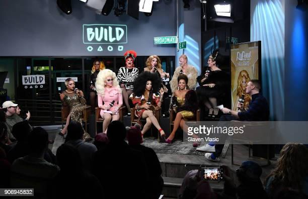 TV personalities Chi Chi DeVayne Thorgy Thor Morgan McMichaels Milk and BenDeLaCreme TV Personalities Kennedy Davenport Trixie Mattel Aja and...