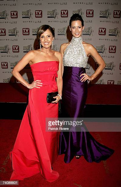 TV personalities Chris Bath and Sarah Groen arrive at the 2007 TV Week Logie Awards at the Crown Casino on May 6 2007 in Melbourne Australia The...