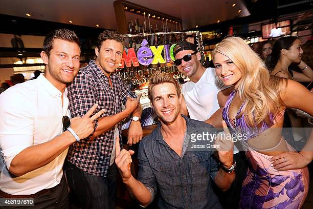 TV personalities Chris Bukowski Zack Kalter Robert Graham Cody Sattler and Elise Mosca attend ABC's Bachelor In Paradise Premiere Party held at...