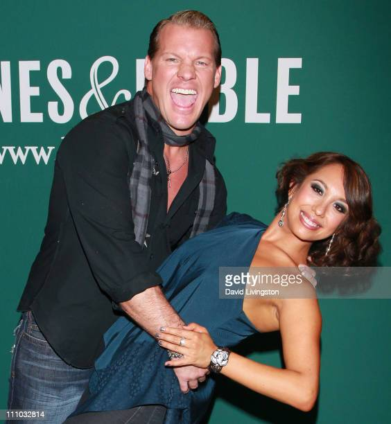 TV personalities Chris Jericho and Cheryl Burke attend a book signing for Burke's 'Dancing Lessons' and Jericho's 'Undisputed' at Barnes Noble...