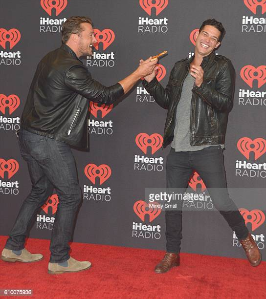 TV personalities Chris Soules and Wells Adams attend the 2016 iHeartRadio Music Festival at TMobile Arena on September 23 2016 in Las Vegas Nevada