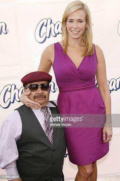 TV personalities Chuy and Chelsea Handler attend Charmin's Plush Potties Event at Third Street Promenade on October 28 2008 in Los Angeles California