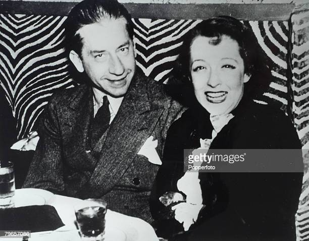 Personalities Circa 1940's Jean Paul Getty and his wife Louise Dudley Lynch