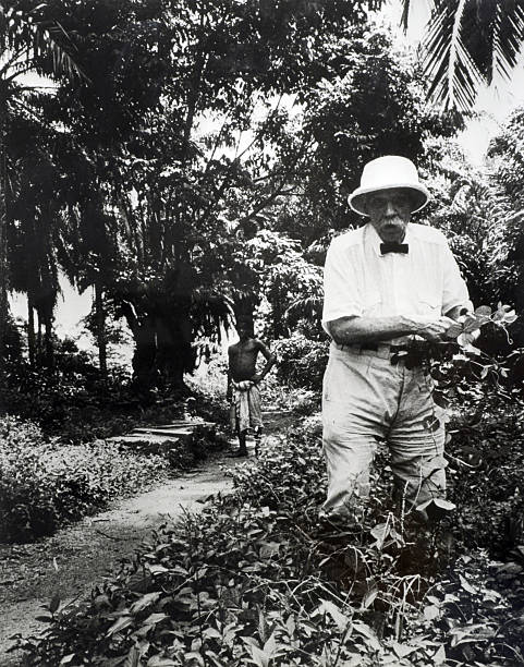 Personalities Circa 1950s Dr Albert Schweitzer Doctor Theologian And Missionary