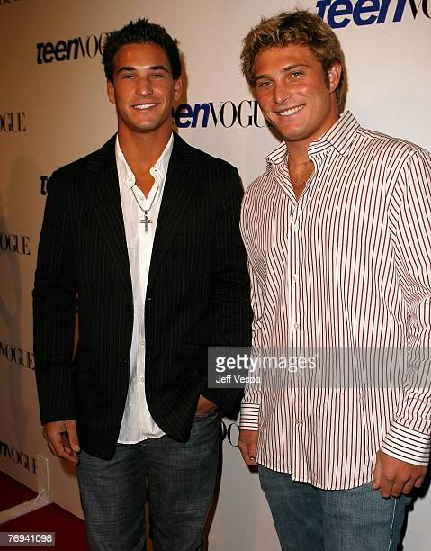 Personalities Clay Adler and Corey Adler arrives at the Teen Vogue Young Hollywood Party at Vibiana on Sepember 20 2007 in Los Angeles California