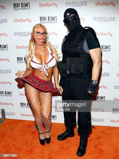 Personalities Coco and IceT attends Shutterfly Presents Heidi Klum's 14th Annual Halloween Party sponsored by SVEDKA Vodka and smartwater at Marquee...