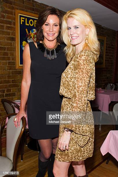 TV personalities Countess LuAnn de Lesseps and Alex McCord attend the 'Sing For The Cause' charity dinner at Appetito Ristorante on October 14 2011...