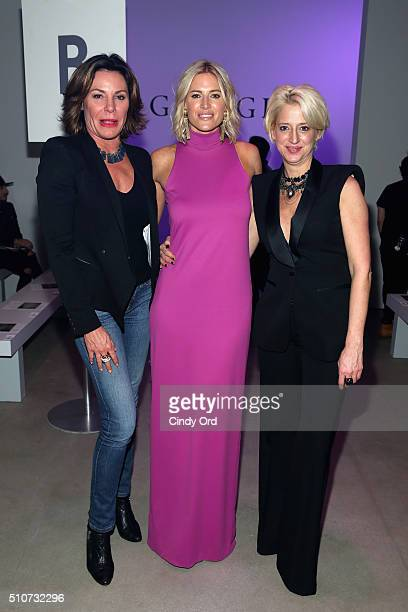 TV personalities Countess LuAnn de Lesseps Kristen Taekman and Dorinda Medley attends the Georgine Fall 2016 fashion show during New York Fashion...