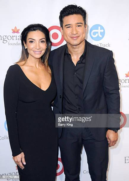 TV personalities Courtney Mazza and Mario Lopez attend the 5th Annual Eva Longoria Foundation Dinner at Four Seasons Hotel Los Angeles at Beverly...