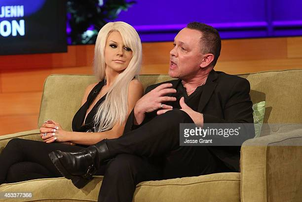 TV personalities Courtney Stodden and Doug Hutchison attend the VH1 Couples Therapy With Dr Jenn Reunion at GMT Studios on August 8 2014 in Culver...