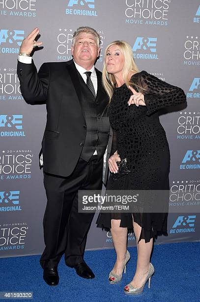 TV personalities Dan Dotson and Laura Dotson attend the 20th annual Critics' Choice Movie Awards at the Hollywood Palladium on January 15 2015 in Los...