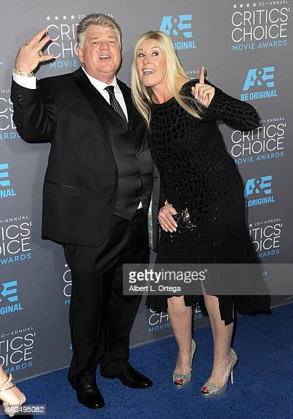 TV personalities Dan Dotson and Laura Dotson of AE's Storage Wars arrives for The 20th Annual Critics' Choice Movie Awards held at Hollywood...