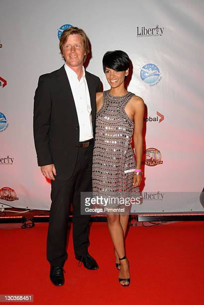 TV personalities Darryl Konynenbelt and AnneMarie Mediwake attend the Entertainment Tonight Party during the 2009 Toronto International Film Festival...