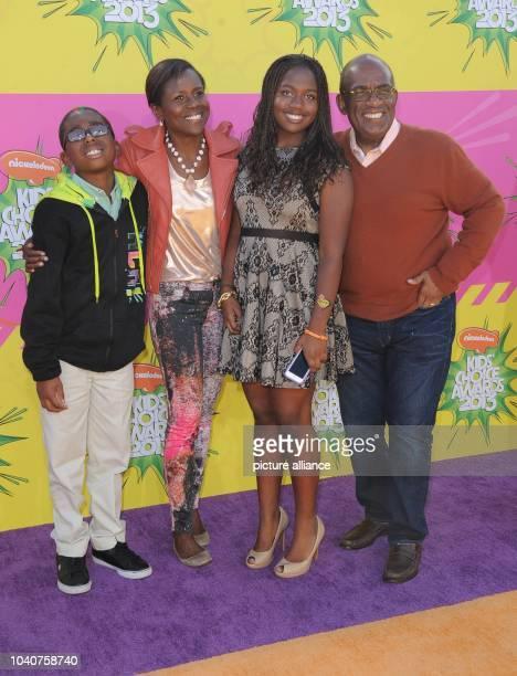 TV personalities Deborah LeeRoberts and Al Roker with children Nicholas Roker and Leila Roker arrive at Nickelodeon's 26th Annual Kids' Choice Awards...