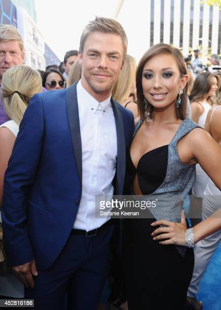 TV personalities Derek Hough and Cheryl Burke attend the 2014 Young Hollywood Awards brought to you by Samsung Galaxy at The Wiltern on July 27 2014...