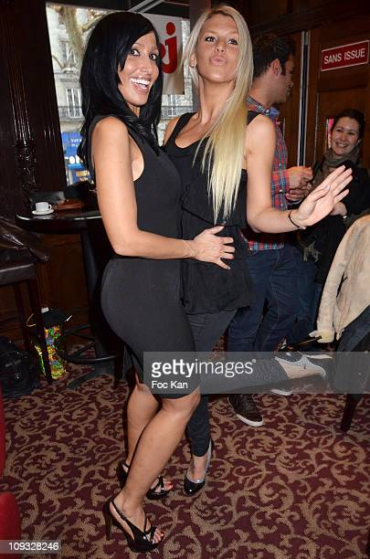 TV personalities Diana Jones from 'Ile De La Tentation 1' and Amelie Neten from 'Secret Story 4' attend 'Les Anges de la Tele Realite' Launch Party...
