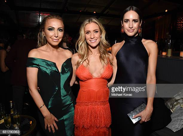 TV personalities Diana Madison Kristin Cavallari and Louise Roe attend The Weinstein Company and Netflix Golden Globe Party presented with Moet...