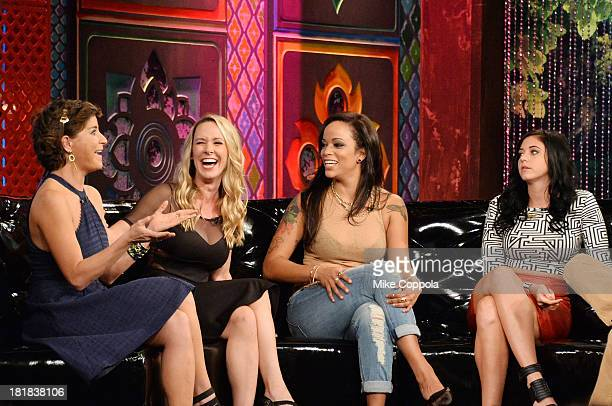 TV personalities Diem Brown Paula Meronek Aneesa Ferreira and Jemmye Carroll appear on MTV's 'The Challenge Rivals II' final episode and reunion...