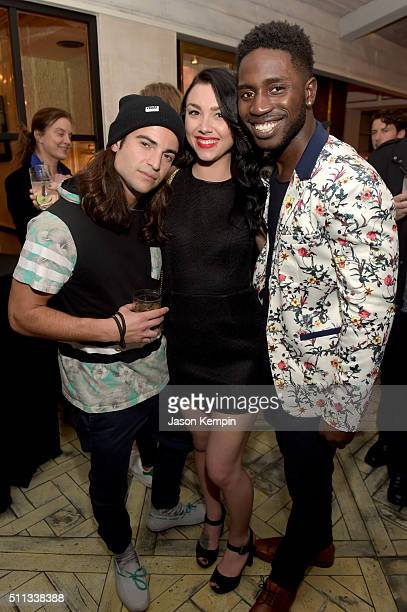 TV personalities Dione Mariani Kailah Casillas and Dean BartPlange attend the MTV Press Junket Cocktail Party at The London West Hollywood on...