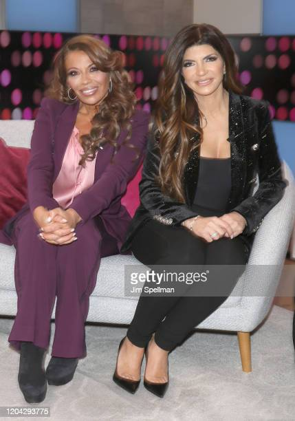 """Personalities Dolores Catania and Teresa Guidice visits People's """"Reality Check"""" on February 05, 2020 in New York, United States."""