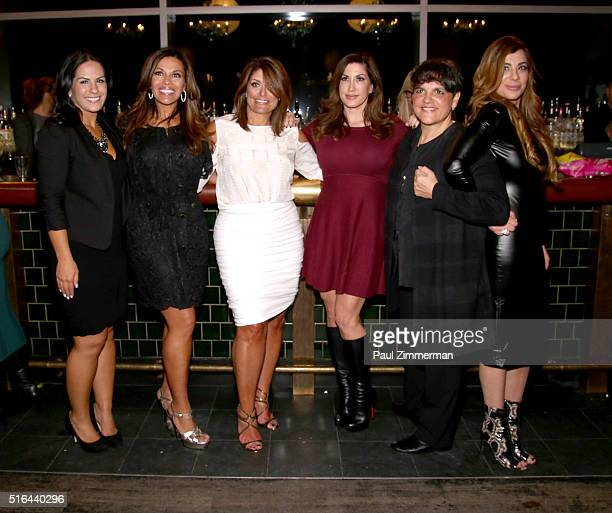 TV personalities Dolores Catania Kathy Wakile Jacqueline Laurita Rosie Pierris and Siggy Flicker attend the Chris Laurita Celebrates Launch of 'The...
