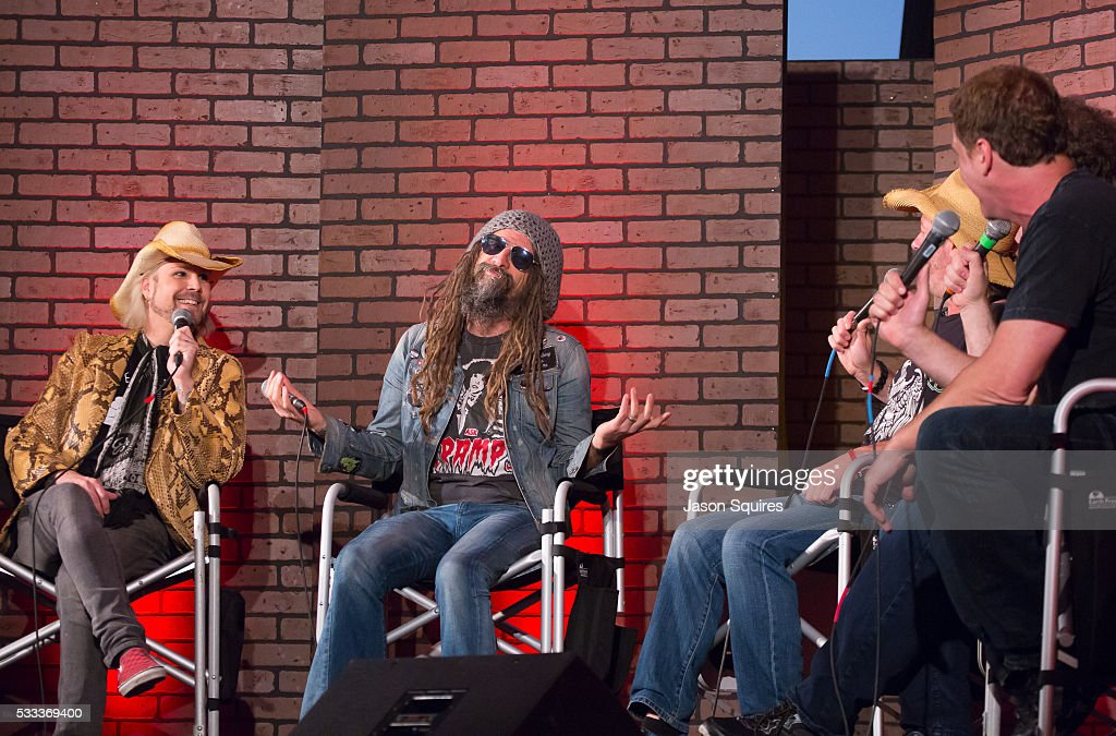 TV personalities Don Jamieson, Eddie Trunk, and Jim Florentine host a discussion with John Lowery and Rob Zombie at MAPFRE Stadium on May 21, 2016 in Columbus, Ohio.