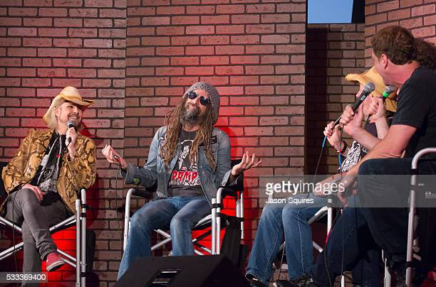TV personalities Don Jamieson Eddie Trunk and Jim Florentine host a discussion with John Lowery and Rob Zombie at MAPFRE Stadium on May 21 2016 in...