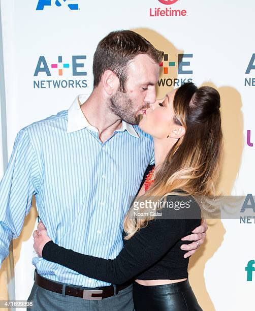 TV personalities Doug Hehner and Jamie Otis of Married At First Sight attend the 2015 AE Network Upfront at Park Avenue Armory on April 30 2015 in...
