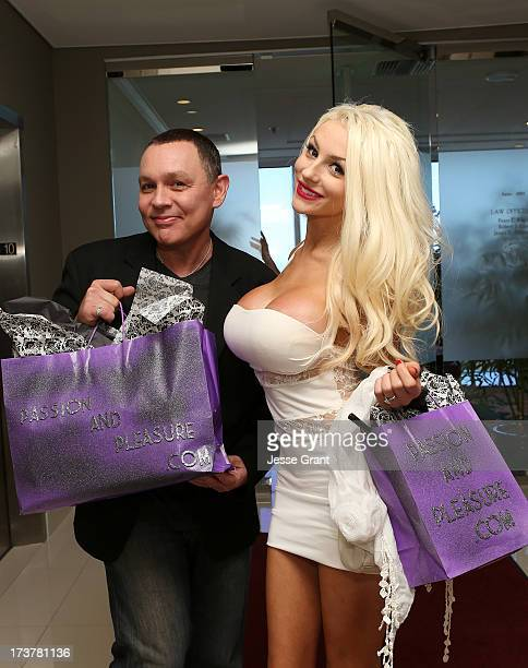 TV personalities Doug Hutchinson and Courtney Stodden in session with Dr Ava Cadell for The Passion and Pleasure Program on July 17 2013 in West...