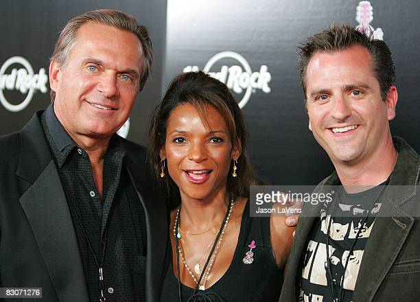 TV personalities Dr Andrew Ordon Dr Lisa Masterson and Dr Jim Sears attend the Pinktober campaign party at Hard Rock Cafe on September 30 2008 in...