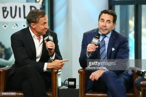 TV personalities Dr Terry Dubrow and Dr Paul Nassif discuss 'Botched' at Build Studio on June 15 2017 in New York City