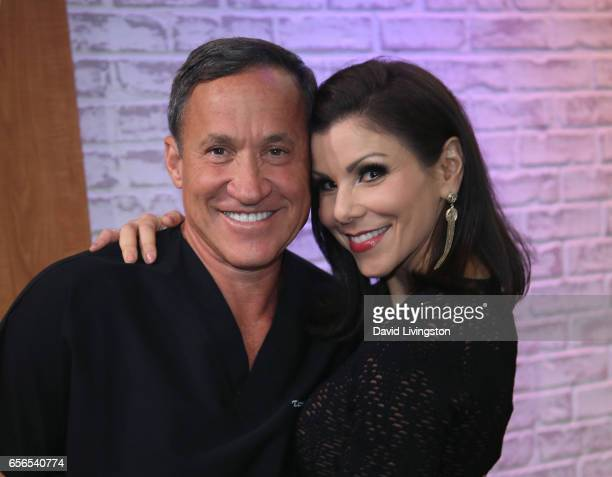 TV personalities Dr Terry Dubrow and Heather Dubrow visit Hollywood Today Live at W Hollywood on March 22 2017 in Hollywood California