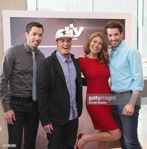 TV Personalities Drew Scott Vanilla Ice Genevieve Gorder and Jonathan Scott pose for a photo as Scripps Networks Interactive hosts the 2013 Upfront...