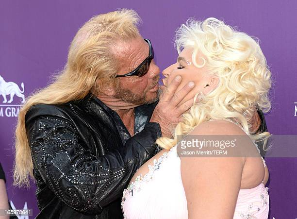 TV personalities Duane Dog Chapman and Beth Smith arrive at the 48th Annual Academy of Country Music Awards at the MGM Grand Garden Arena on April 7...