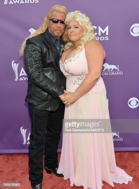TV personalities Duane Dog Chapman and Beth Smith attend the 48th Annual Academy of Country Music Awards at the MGM Grand Garden Arena on April 7...