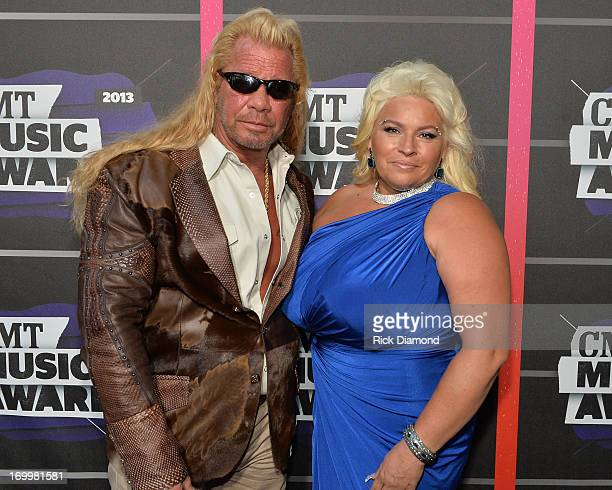 TV personalities Duane Dog Lee Chapman and Beth Chapman attend the 2013 CMT Music awards at the Bridgestone Arena on June 5 2013 in Nashville...