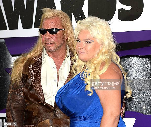 Personalities Duane Dog Lee Chapman and Beth Chapman attend the 2013 CMT Music awards at the Bridgestone Arena on June 5, 2013 in Nashville,...