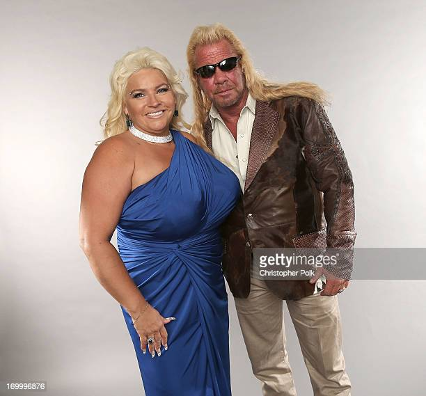 TV personalities Duane Dog Lee Chapman and Beth Chapman pose at the Wonderwall portrait studio during the 2013 CMT Music Awards at Bridgestone Arena...