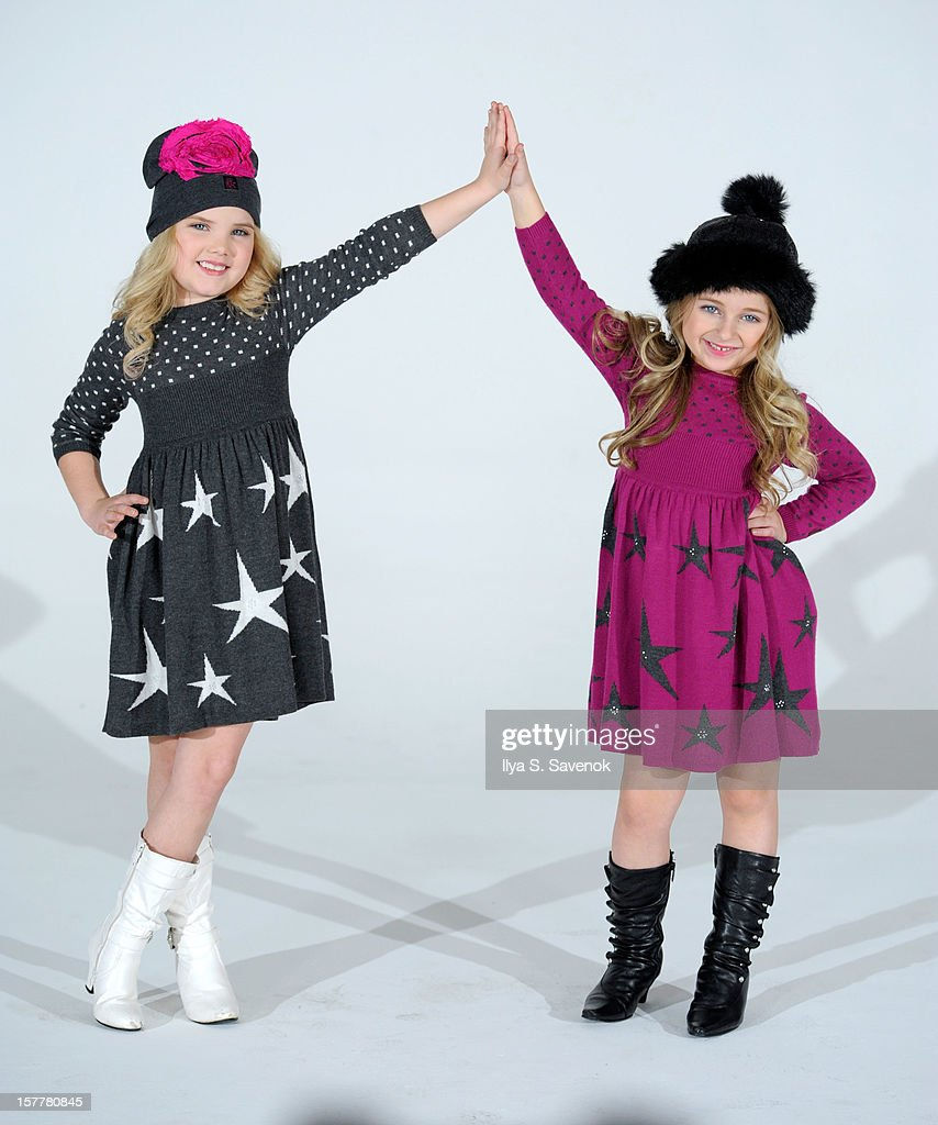 TV personalities Eden Wood(L) and Isabella Barrett perform during Eden Wood and Isabella Barrett 'LOL' Music video shoot at Picture Ray Studios on December 6, 2012 in New York City.