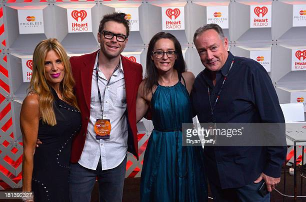 TV personalities Ellen K Bobby Bones Kennedy and Dennis Clark attend the iHeartRadio Music Festival at the MGM Grand Garden Arena on September 20...