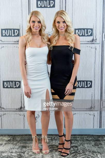 V personalities Emily Ferguson and Haley Ferguson discuss 'The Twins Happily Ever After' with the Build Series at Build Studio on March 21 2017 in...