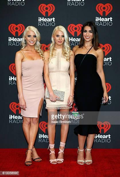 TV Personalities Emily Ferguson Haley Ferguson and Ashley Iaconetti attend the 2016 iHeartRadio Music Festival at TMobile Arena on September 23 2016...