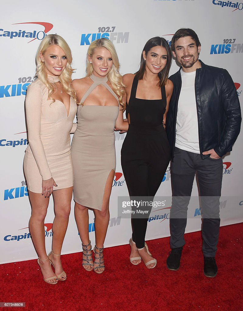 TV personalities Emily Ferguson, Haley Ferguson, Ashley Iaconetti and Jared Haibon attend 102.7 KIIS FM's Jingle Ball 2016 at Staples Center on December 2, 2016 in Los Angeles, California.