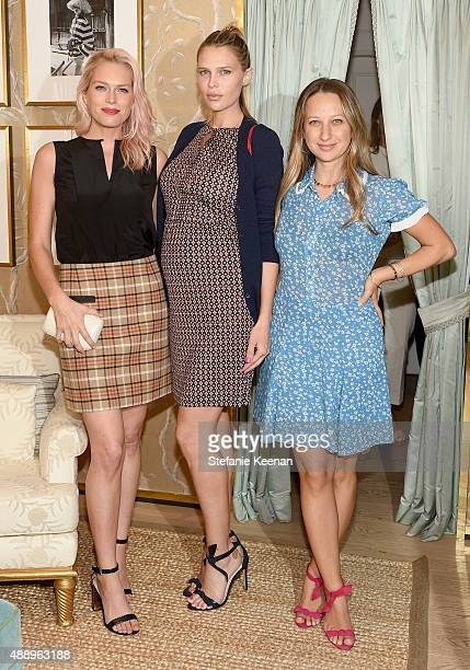 Personalities Erin Foster and Sara Foster and jewelry designer Jennifer Meyer attend the Glamour Women To Watch Lunch hosted by Cindi Leive at the...